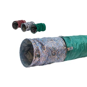 Туннель-шуршалка для кошек, складной, 50 х 24 см, микс цветов