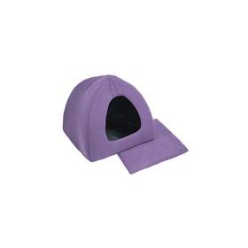"Домик ""Бархатное Иглу"" с подушкой, 42 х 42 х 35 см, фиолетовый"