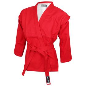 Куртка для самбо BoyBo, цвет красный, размер 1/140