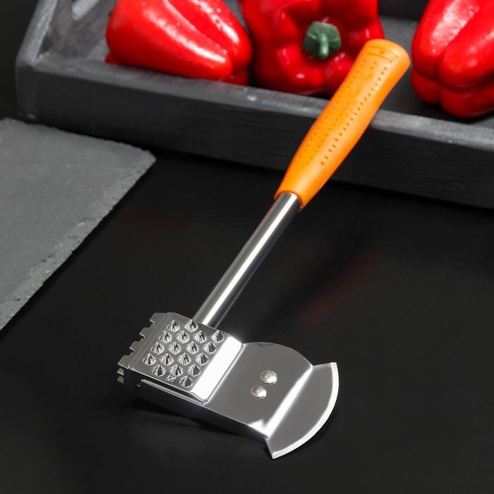 Молоток-топорик с прорезиненной ручкой для отбивки мяса, цвет МИКС - фото 187240