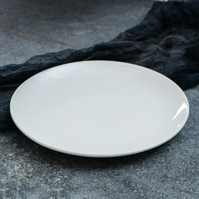 """Тарелка """"Сиеста"""" 25 см, белая, 1 сорт"""