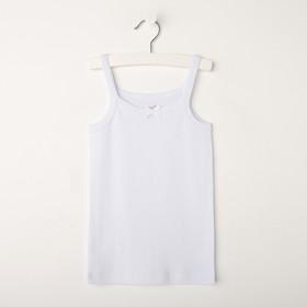 T-shirt for girls, white, height 92-98 cm