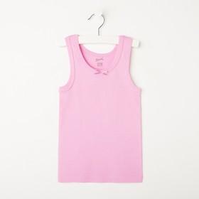 Майка для девочки, цвет розовый, рост 104-110 см