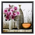 "The painting ""Vase with roses"" 36х36 cm"