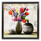 "The painting ""Vase with wildflowers"" 36х36 cm"