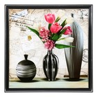 "The painting ""Vase with tulips"" 36х36 cm"