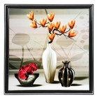 "The painting ""Vase with orange Magnolia"" 36х36 cm"