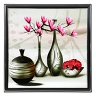 "The painting ""Vase with purple Magnolia"" 36х36 cm"