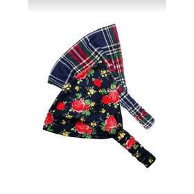Набор из двух бандан для девочек, размер One size, цвет сине-красный