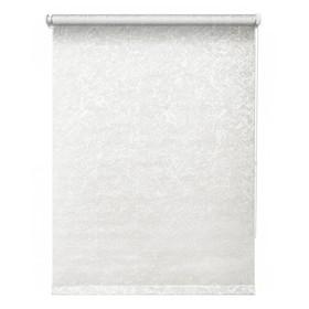Рулонная штора «Фрост», 52 х 175 см, цвет белый
