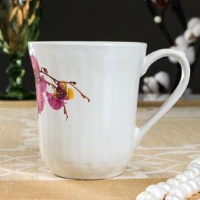 """Кружка 0,3 л """"Свеча"""" орхидея"""