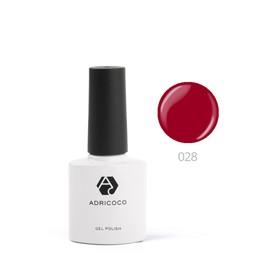 Цветной гель-лак ADRICOCO №028 темно-красный, 8 мл