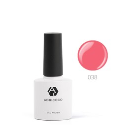Цветной гель-лак ADRICOCO №038 розовый коралл, 8 мл