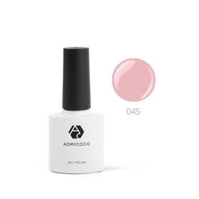 Цветной гель-лак ADRICOCO №045 дымчато-розовый, 8 мл