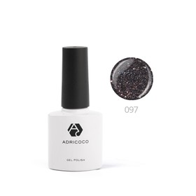 Цветной гель-лак ADRICOCO №097 мерцающий темно-серый, 8 мл