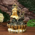 """The fountain table from the network, highlighting """"the Face of Buddha on the bark of a tree"""" 28х20х20 cm"""