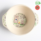 Миска детская из бамбука, цвет и рисунок МИКС - фото 105488771