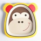 Тарелка детская из бамбука, цвет и рисунок МИКС - фото 105461496