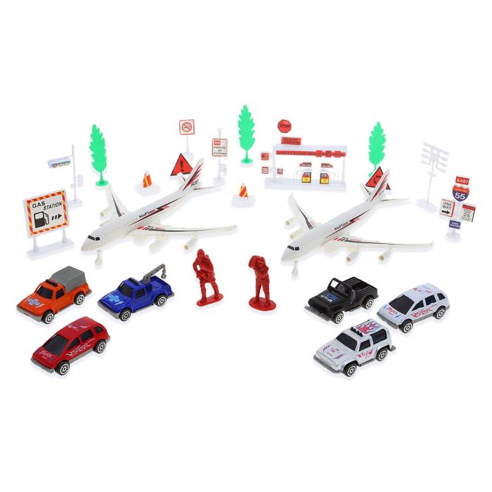 Игровой набор с инерционным транспортом «Аэропорт», в пакете