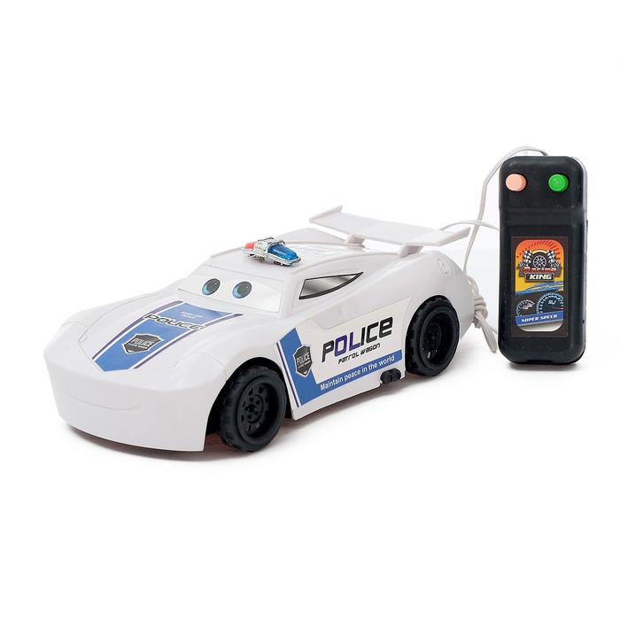 Машина «Полиция», на дистанционном управлении, работает от батареек, МИКС, в пакете
