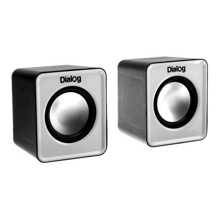 Компьютерные колонки 2.0 Dialog Colibri AC-02UР, 2х3Вт, USB, черно-белые