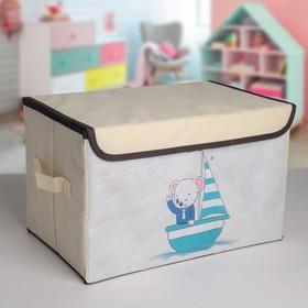 Короб для хранения с крышкой «Морячок», 38×25×24 см