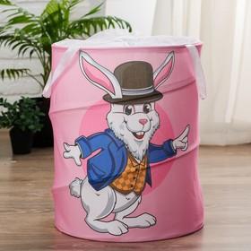 Корзинка для игрушек «Заяц» 34×34×45 см