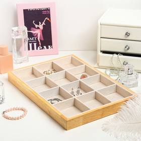 Stand for jewelry, 12 cells, 35*24*3, beige