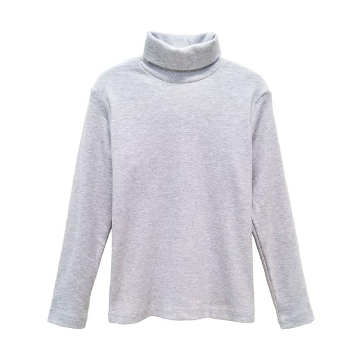 Свитер детский, рост 104, цвет серый меланж