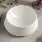 Чаша коническая «Slide», d=18 см, цвет белый