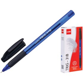 Ручка шариковая Cello Tri-Grip blue barrel узел 0.7мм, чернила синие, грип 747