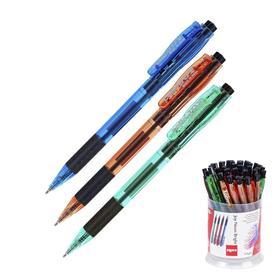 """Ручка шариковая автомат Cello """"Joy Neon tinted"""" узел 0.7мм, чернила синие, грип, микс 3В 352   47576"""