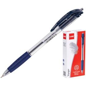 """Ручка шариковая автомат Cello """"Voyager"""" узел 0.7мм, чернила синие, грип 510"""