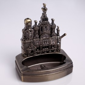 Table lighter with ashtray Pokrovsky Cathedral, piezo, gas, 14x12x8.5 cm