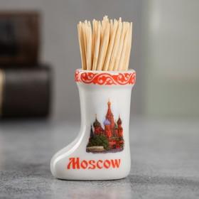 {{photo.Alt    photo.Description    'Сувенир для зубочисток в форме валенка «Москва»'}}