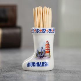 {{photo.Alt    photo.Description    'Сувенир для зубочисток в форме валенка «Мурманск»'}}