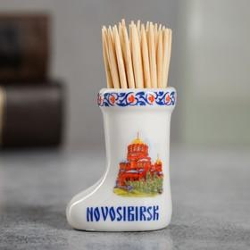 {{photo.Alt    photo.Description    'Сувенир для зубочисток в форме валенка «Новосибирск»'}}