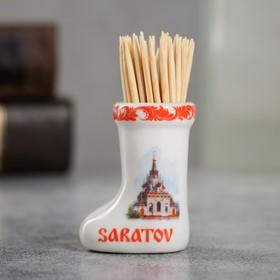 {{photo.Alt    photo.Description    'Сувенир для зубочисток в форме валенка «Саратов»'}}
