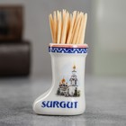 "Souvenir ceramic toothpick in the form of boots ""Surgut"" 3.5 x 4 cm"