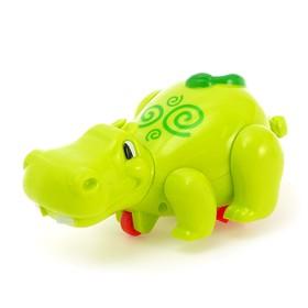 Водоплавающая заводная игрушка 2 в 1 «Бегемотик», бегает по полу и плавает в воде, цвета МИКС