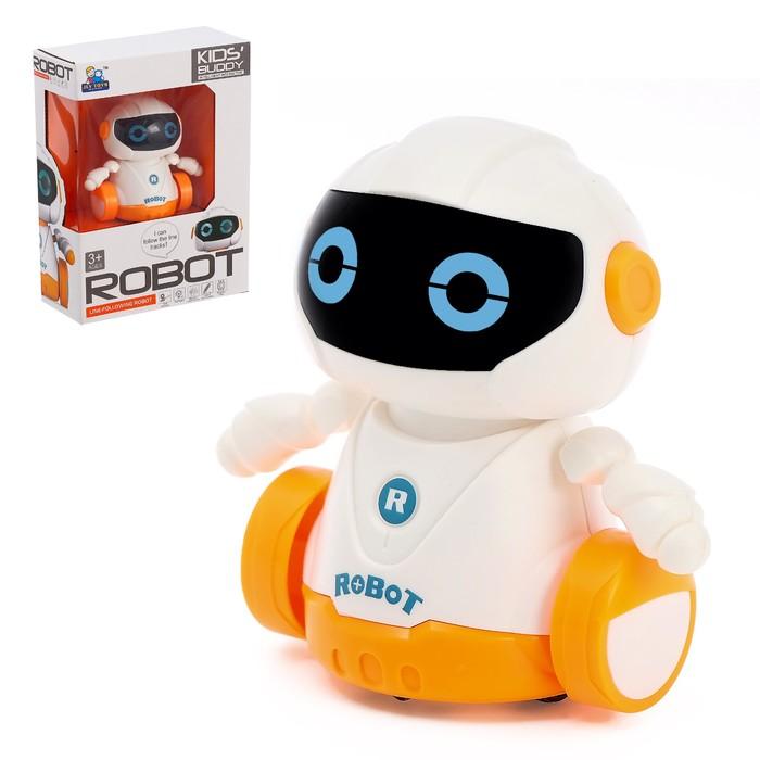 Робот «Бади», ездит по линии, световые эффекты, работает от батареек