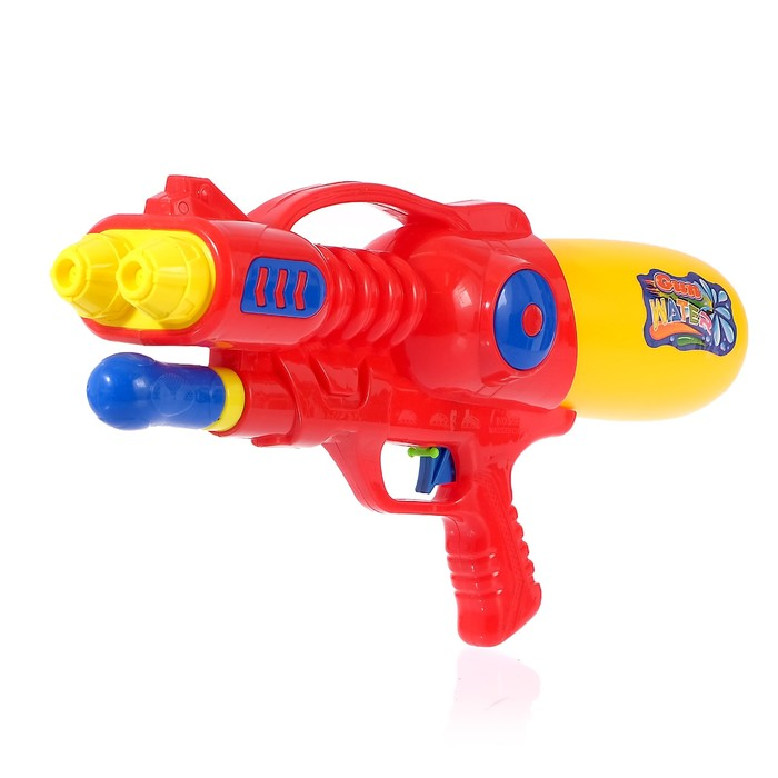 Водный пистолет «Буря», с накачкой, 39 см, цвета МИКС