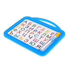 Доска для обучения алфавиту, с магнитами и маркером, цвета МИКС