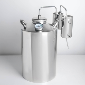 Дистиллятор, 25 л, горло 10 см, термометр, клапан