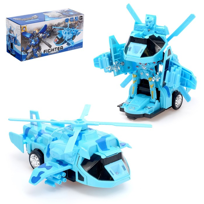 Робот-трансформер «Вертолёт», световые и звуковые эффекты, работает от батареек - фото 105504704