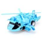 Робот-трансформер «Вертолёт», световые и звуковые эффекты, работает от батареек - фото 105504708
