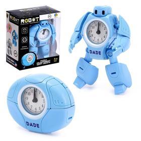 Робот «Будильник», трансформируется, звуковые эффекты, цвет голубой