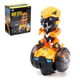 """Robot """"Dancing robot"""", light and sound effects, runs on batteries"""