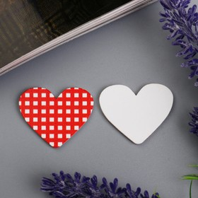 """Decor for creative wood """"Heart in the box"""" set of 10 PCs 3,5x3 cm"""