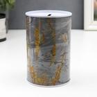 "Piggy Bank metal ""Marble with gold cracks"" MIX 12х8х8 cm"